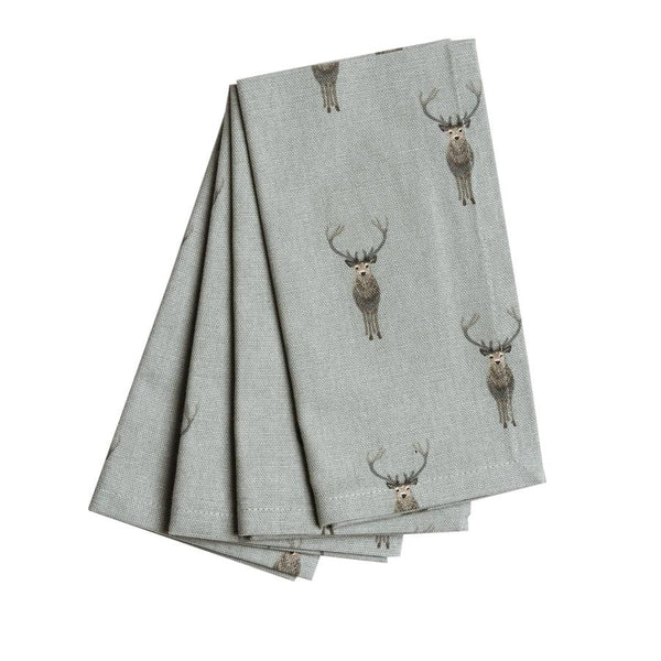 Set of 4 Highland Stag Napkins