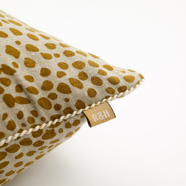 Raine & Humble Animal Print Cushion (Navy/Yellow)