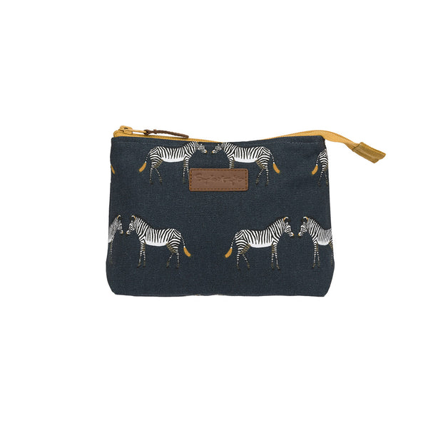 Sophie Allport Zebra Canvas Makeup Bag