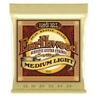 Ernie Ball Earthwood 80/20 Bronze Acoustic Guitar Strings 12 to 54 Medium Light