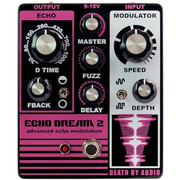 Death By Audio Echo Dream 2 Guitar Effects Pedal Delay Modulator