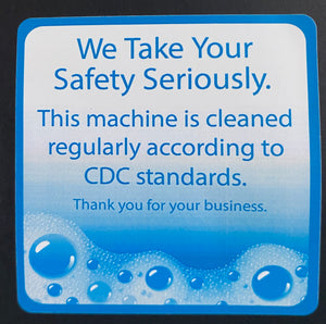 "2.5""x2.5"" Glossy Bulk Vending CDC Safety Stickers"