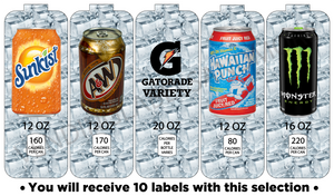 "Soda Vend Labels  3 5/8"" X 10"" Fits Royal Vendors Drink Vending Machines"