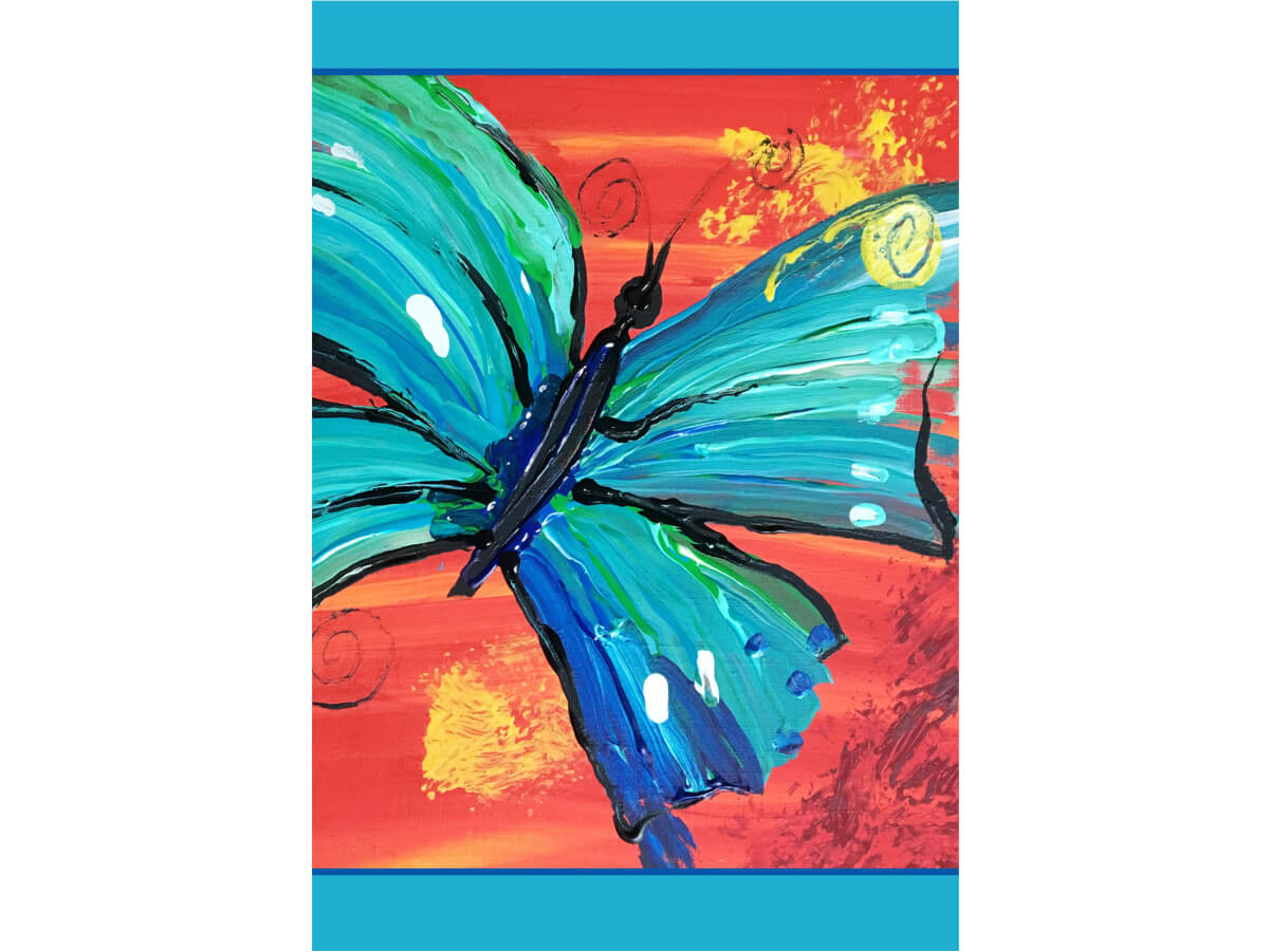BUTTERFLY MicroPuzzle Art with Intention mini jigsaw puzzle