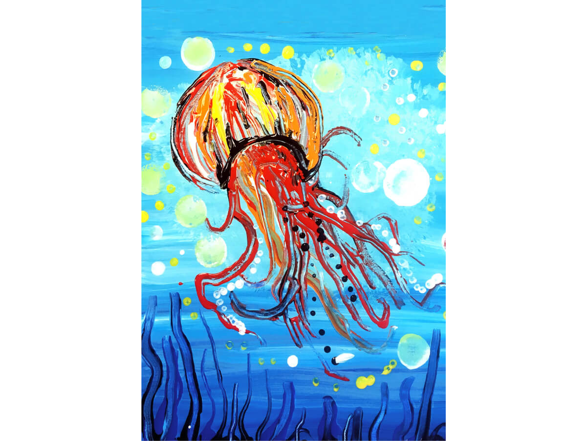Art with Intention - Jellyfish MicroPuzzle mini jigsaw puzzle