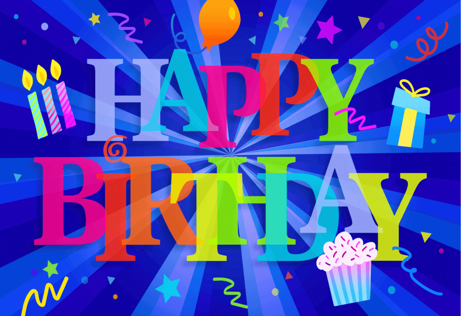 Happy Birthday Blast with starburst candles balloons MicroPuzzle mini micro jigsaw puzzle