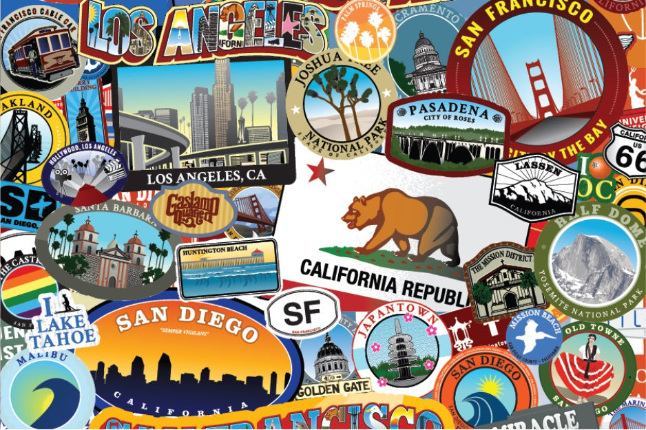 California Los Angeles San Francisco Sacramento Castro Jigsaw Puzzle
