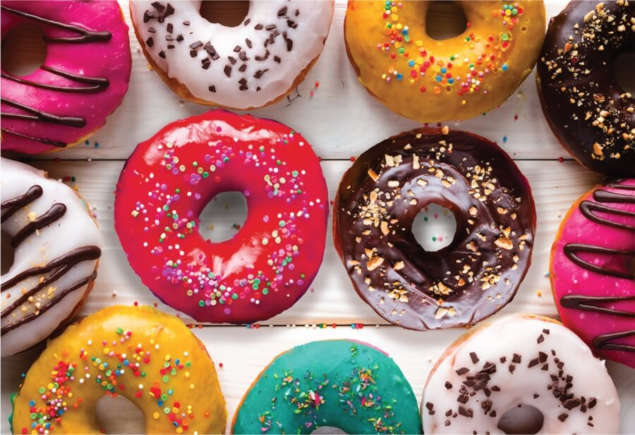multi colored delicious donuts puzzle micro jigsaw