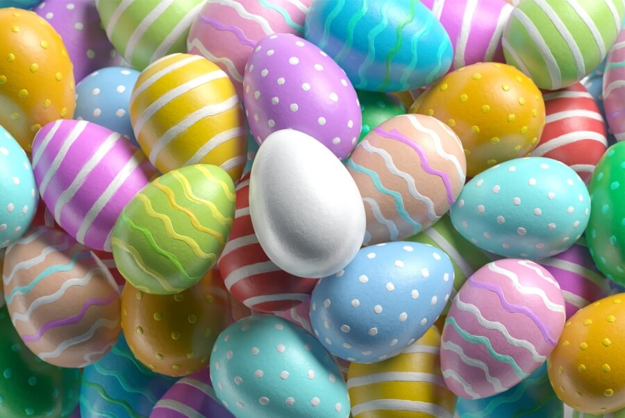colorful easter eggs jigsaw puzzle MicroPuzzle