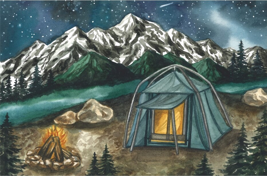 Kendra Fleur Wreath Art - Camping Olympic National Park MicroPuzzle