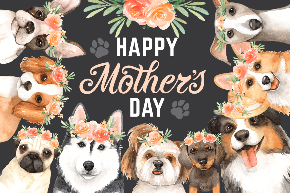 Mother Day Dog Puppy Mico Jigsaw Puzzle Mini