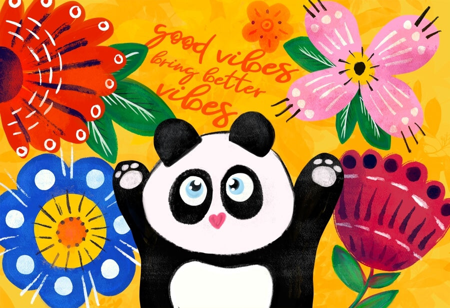 PUZZLE PANDA GOOD VIBES MICROPUZZLE MICRO MINI FLOWERS JIGSAW PUZZLE