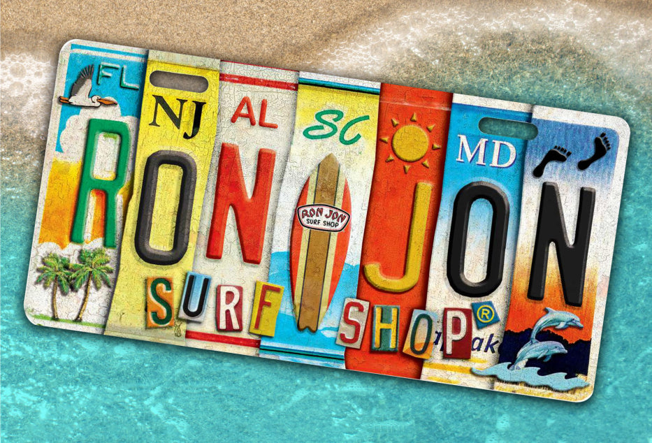 Ron Jon Surf Shop License Plate Logo