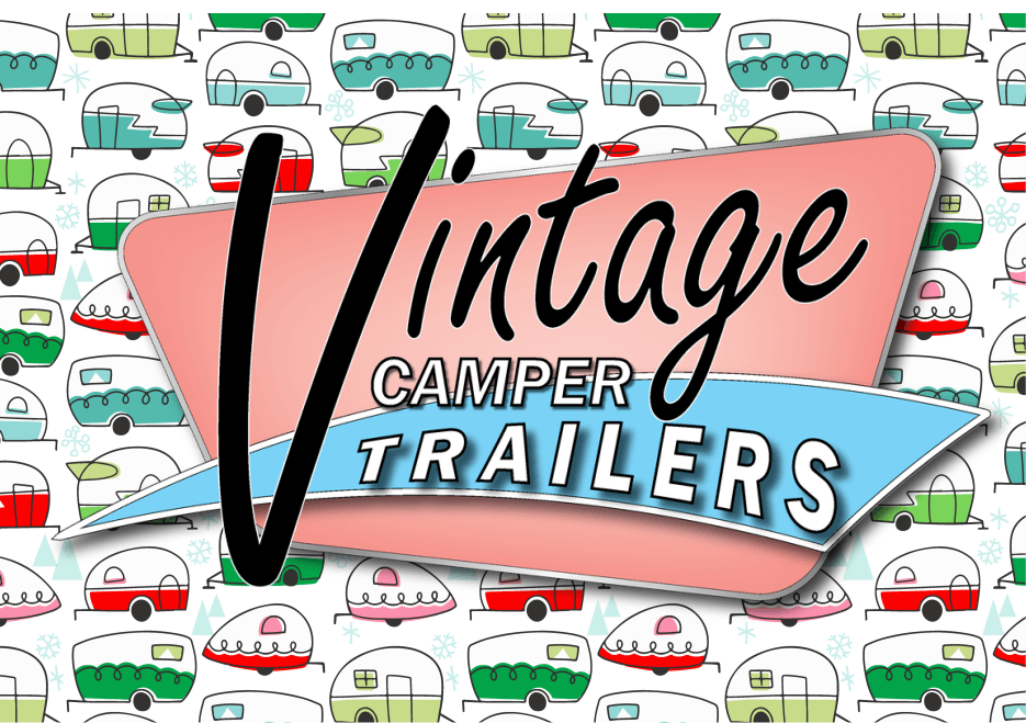 Vintage Camper Trailers Magazine Puzzle Micro Jigsaw