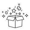 Micro Puzzle subscription box jigsaw box with stars