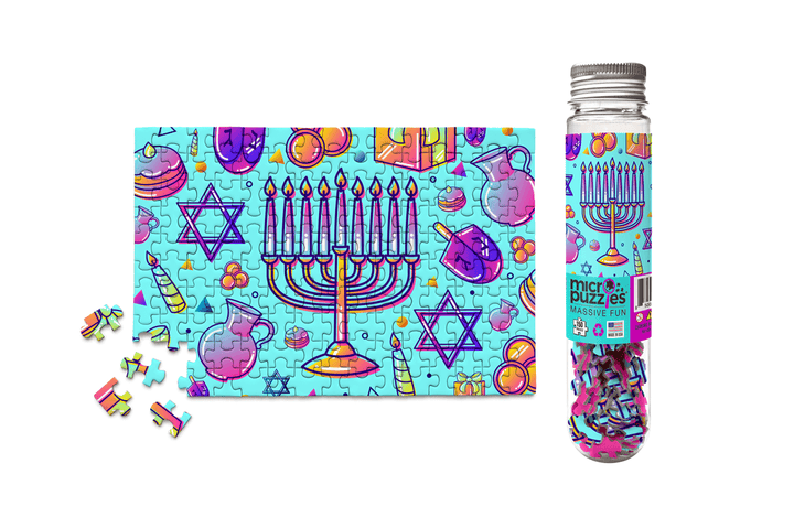 hannukah chanukah jigsaw puzzle dreidel menorah star of david candles