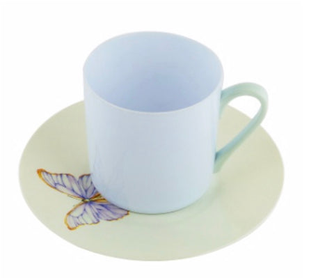 Lilac Butterfly Tea Cup & Saucer- Set of 6
