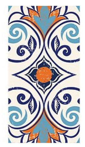 Moroccan Tile Guest Towel Napkins- Pack of 16