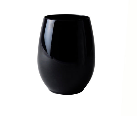 Stemless Goblet Black- Set of 6