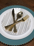 Glam Salad/Dessert Plate- Set of 10