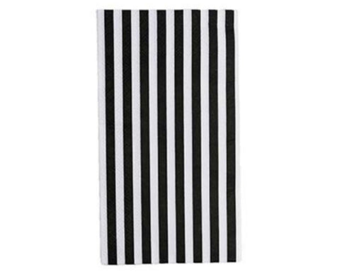 Black & White StrIped Guest Towel Napkin- Set of 16