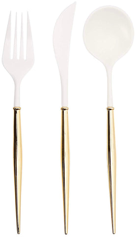 Jade Gold Cutlery Set