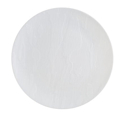 Mahogany Dinner Plate White