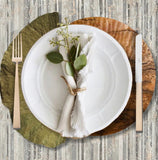Lotus Die-Cut Placemat- Set of 24