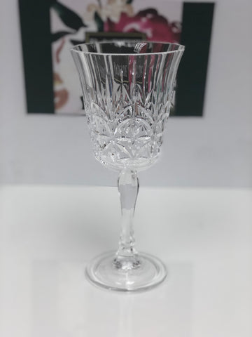 Carved Acrylic Stemmed Glass
