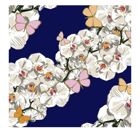 Elizabeth Sutton Indigo Orchid Charger- Set of 24