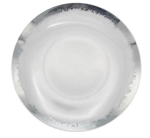 Scratch Silver/Clear Dinner Plates- Set of 10