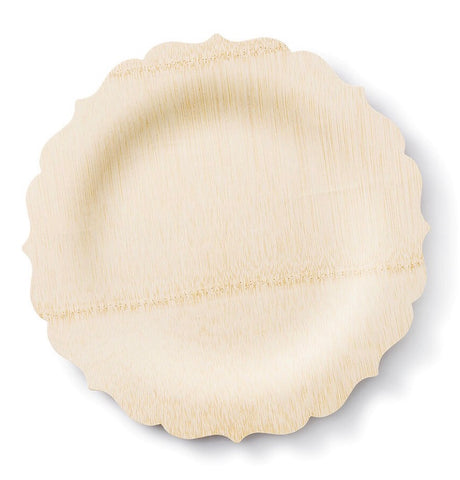 Eco-Friendly Scalloped Dinner Plates- Set of 8