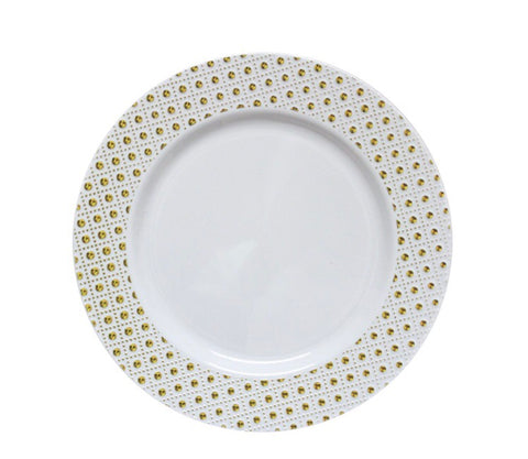 Sphere Dinner Plate Gold- Set of 10