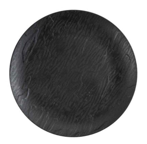 Mahogany Dinner Plate Black