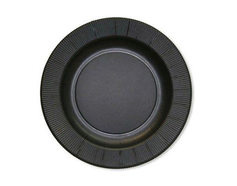 Rigged Charger Plate Opaque Black- Set of 4