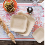 Eco-Friendly Square Dinner Plates- Set of 8