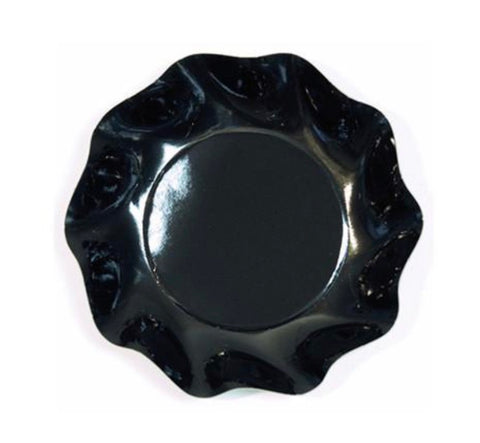 Ruffled Appetizer & Dessert Bowls Black- Set of 10