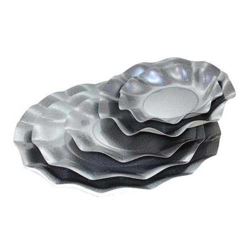 Ruffle Appetizer/ Dessert Bowls Pearl Grey- Set of 10