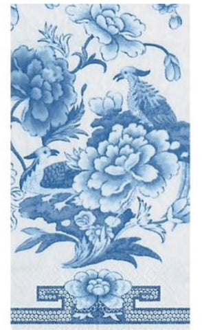 China Blue Guest Towel Napkins- Set of 15