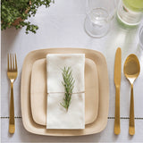 Eco-Friendly Square Appetizer Plates- Set of 25 bulk case