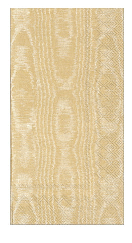Moiree Guest Towel Napkins- Gold