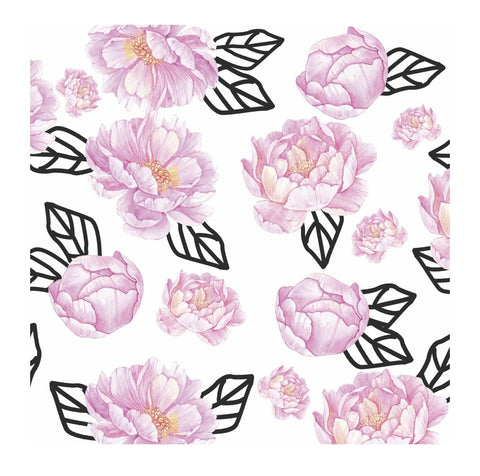 Graphic Peony Paper Charger/ Placemat- Set of 24
