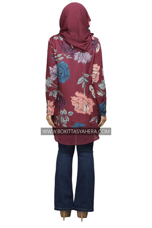 Tunic Top Rose Obsession - BOKITTA SYAHERA