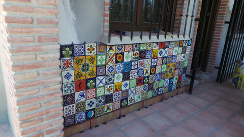 Mosaic of Handmade Mexican Tiles