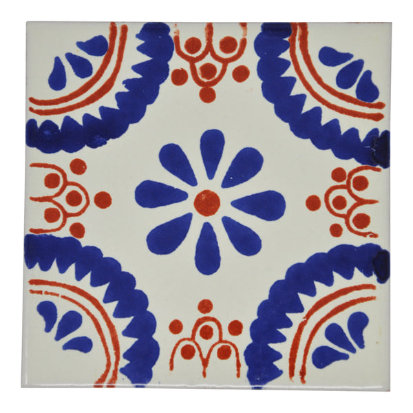 """Notas de Naranja"" Tile Collection - 25 x 10.5cm Assorted Talavera Mexican Handmade Tiles"