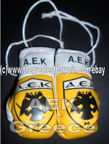 GREEK AEK Flag Mini Boxing Gloves