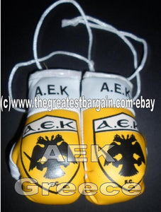 GREEK Flag AEK Mini Boxing Gloves