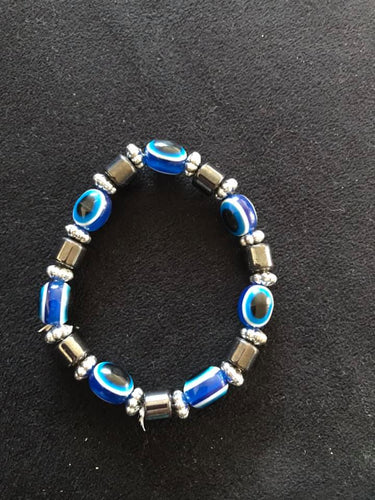 Evil eye bracelet-Blue. One size fits all.