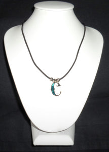 """C""  Letter ""C"" necklace made from Abalone Paua shell ."
