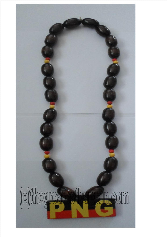 PNG necklace with wooden beads